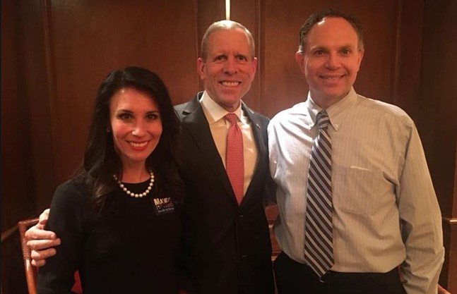 Carla D'Addesi (left) with Paul Mango (center) at a Mango campaign event in February - PHOTO COURTESY OF FACEBOOK