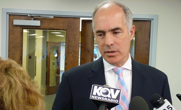 Bob Casey at an event in Pittsburgh - CP PHOTO BY RYAN DETO