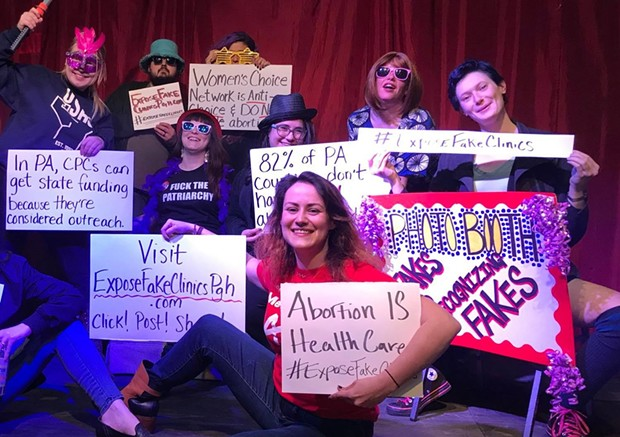 Members of Pittsburgh's Democratic Socialists of America Socialist Feminist Committee - PHOTO COURTESY PITTSBURGH DSA