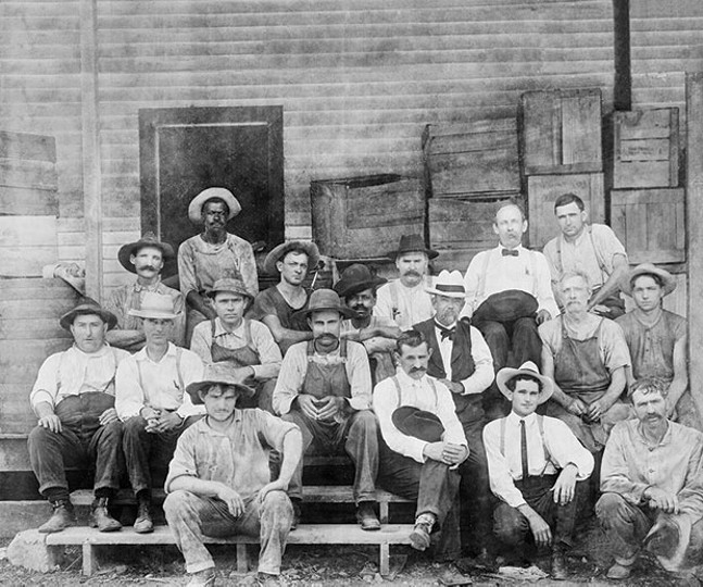 Jack Daniel and his team along with Nearest Green's son, George Green - PHOTO COURTESY OF JACK DANIEL'S DISTILLERY