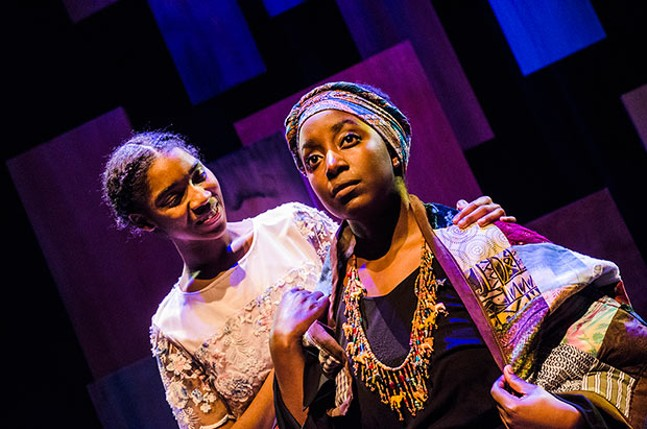 The two Mayas: Kendall Arin Claxton and Linda Kanyarusoke in I Know Why the Caged Bird Sings - PHOTO COURTESY OF LAURA SLOVESKO