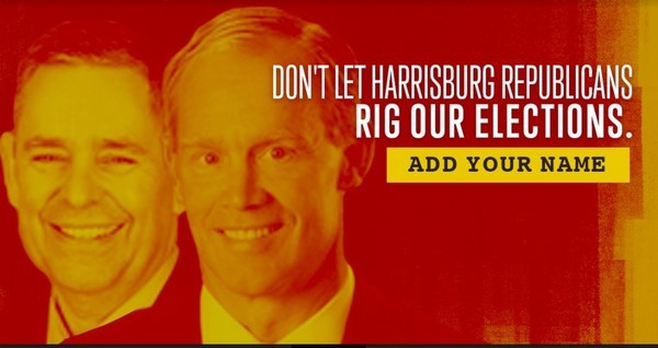 An online ad targeting Cris Dush (left) and Mike Turzai (right) - IMAGE COURTESY OF PA DEMS