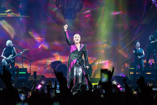P!nk at PPG Paints Arena on Sat., April 7 - CP PHOTOS BY JAKE MYSLIWCZYK