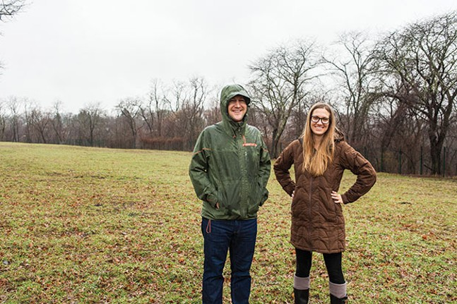 Aaron Sukenik and Sarah Baxendell in the fields at Hilltop Urban Farm - CP PHOTO BY VANESSA SONG