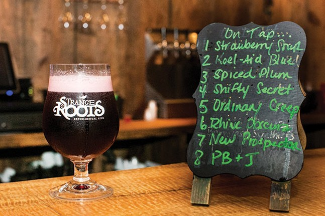 On tap at Strange Roots in Millvale - CP PHOTO BY JOHN COLOMBO