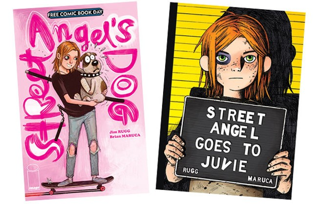 The covers of Street Angel's Dog and Street Angel Goes to Juvie