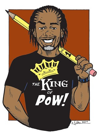 "Marcel Walker's self portrait for his ""Best Local Cartoonist"" title"