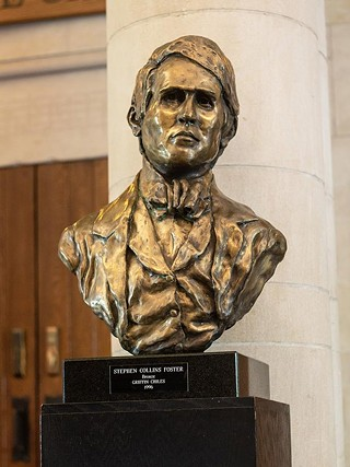 The bust of Stephen Foster inside the Stephen Foster Memorial theater on the University of Pittsburgh campus - CP PHOTO BY ANNIE BREWER
