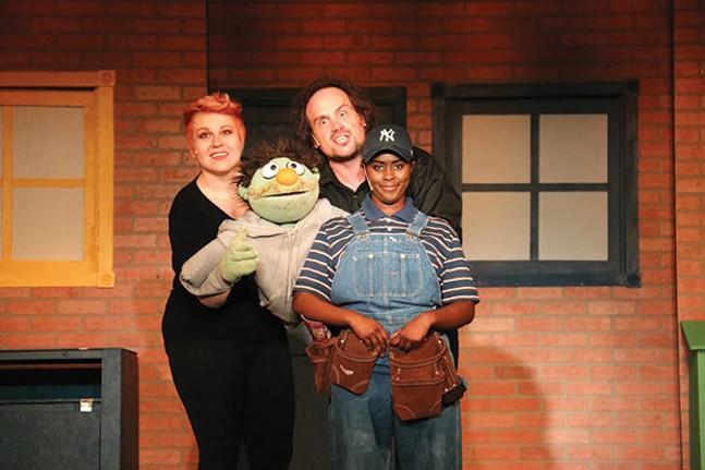 On stage with Avenue Q - PHOTO COURTESY OF MELISSA WALLACE