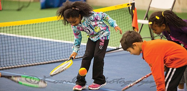 Kids enjoying paddle tennis - PHOTO COURTESY OF CITIPARKS