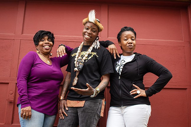 Director Kim El, Blak Rapp Madusa and Candace Michelle Perdue - CP PHOTO BY ANNIE BREWER