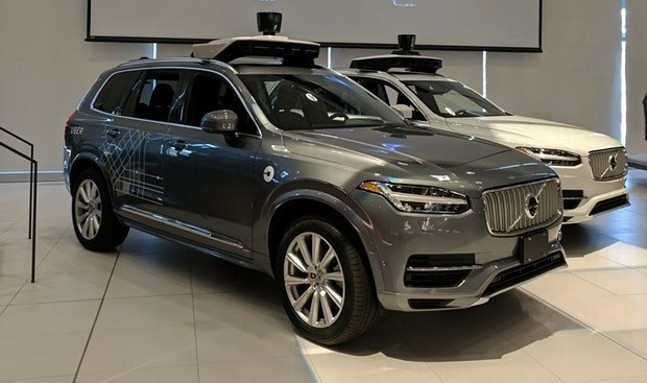 Uber autonomous Volvo - CP PHOTO BY REBECCA ADDISON