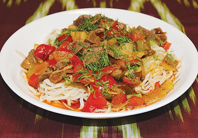 Lagman, a traditional Uzbek dish available at Kavsar - PHOTO COURTESY OF HAYRULLO UMARALIEV