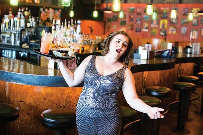 Opera singer, and Mad Mex server, Devan Mercurio - CP PHOTO BY JOHN COLOMBO