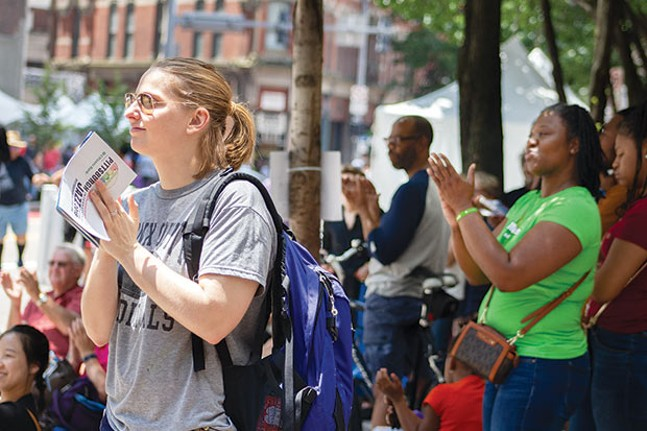Music fans gathered Downtown for the free jazz festival over the weekend. - CP PHOTO BY ANNIE BREWER