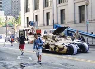 Dark Knight Rises being filmed on Smithfield Street in 2011 - CP FILE PHOTO