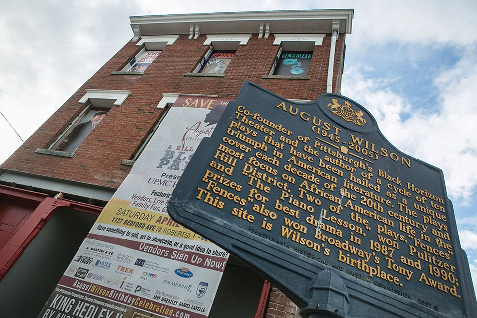 August Wilson's birthplace - CP PHOTO BY JOHN COLOMBO