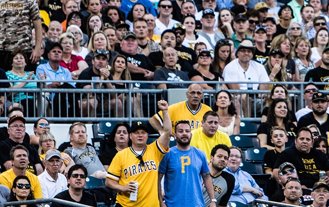 Pirates fans inside PNC Park - CP PHOTO BY LUKE THOR TRAVIS