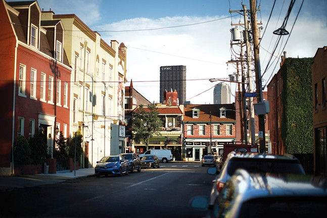 Buildings tower over Deutschtown in the North Side, as seen from James Street - CP PHOTOS BY JARED WICKERHAM