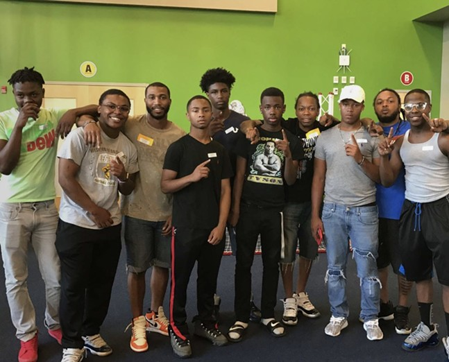 Left to right: NaSean Degounette, Antonio Cheatom, Sam Morant, Diego Williams, JaQuae Jackson, Derrell Key, Kevin McNair, Dasean Cruz, Lloyd Cheatom, Kaleb Jefferson - PHOTO COURTESY OF 1NATION