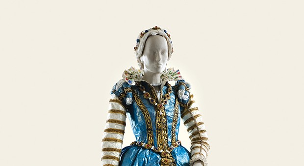 Isabelle de Borchgrave's paper fashion at The Frick Pittsburgh