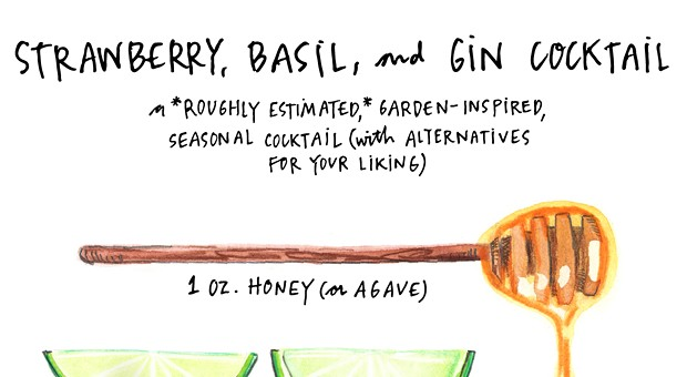 A refreshing illustrated cocktail recipe, perfect for Pittsburgh's hot summer days