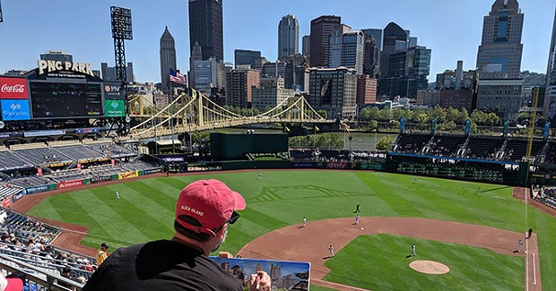 Painting the corner: British artist on mission to live-paint all 30 major league baseball parks lands at PNC Park