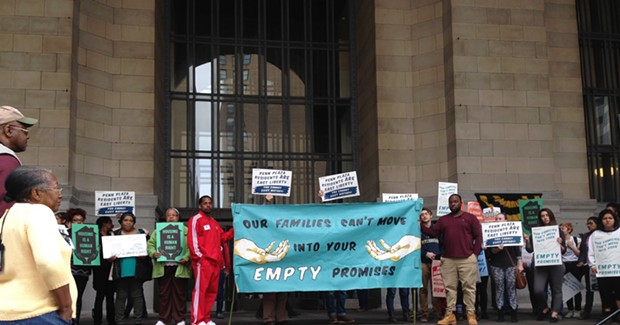 Pittsburgh housing advocates rally for better living conditions at Penn Plaza