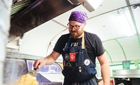 Chef Luke Cypher serves from a Greyhound to enjoy both the front- and back-end restaurant experiences