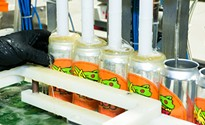 Scott Smith, of East End Brewing Company, lets his baby bird fly with can distribution