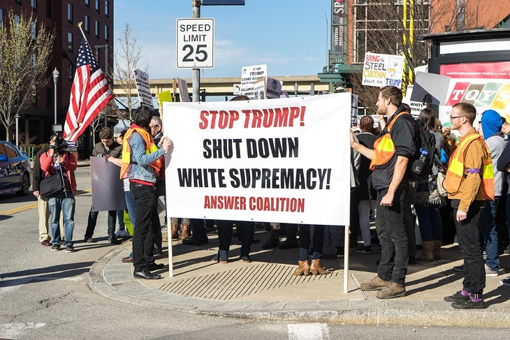 Photographer Aaron Warnick: Various groups, Fetterman march to protest Trump in Pittsburgh