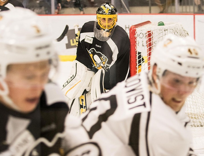 Penguins practice at the UPMC Lemieux Sports Complex