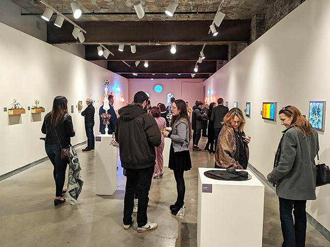 Visitors take in Material World on opening night