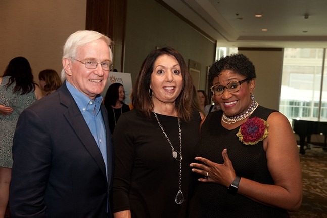 Tom Murphy, POWER Exec Dir. Rosa Davis, and Brenda Waters