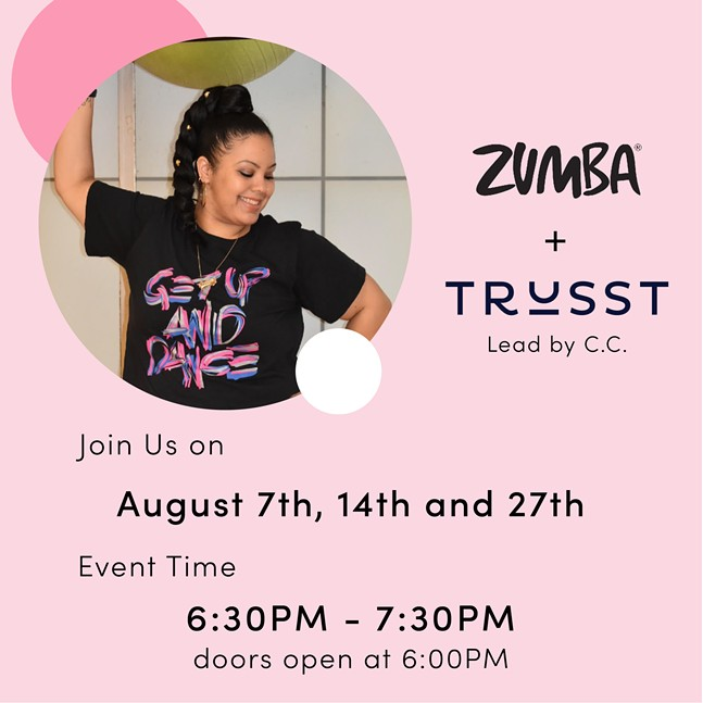 Zumba + Trusst with C.C. at Trusst Showroom
