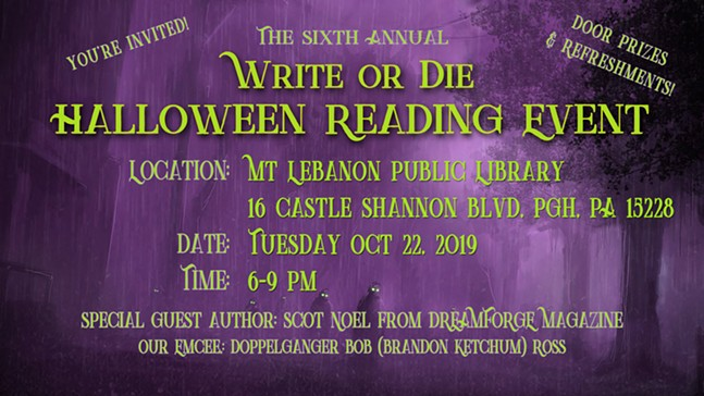Write or Die, Halloween Reading Event