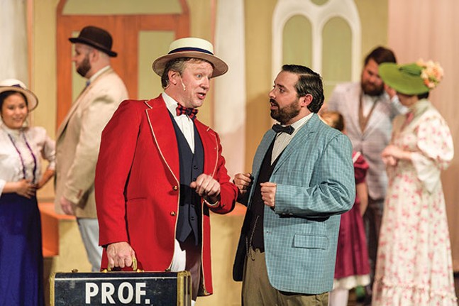 Andy Folmer (left) and Christopher Martin in Stage 62's The Music Man