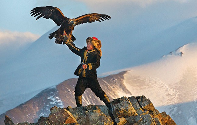 A bird in hand: Aisholpan, with her eagle