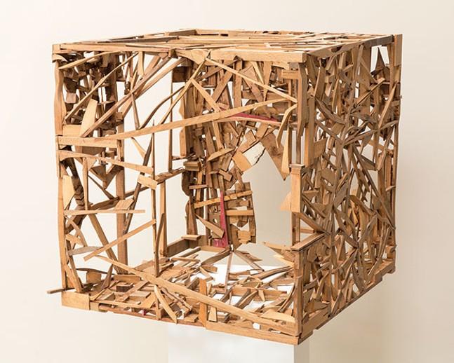 """Sylvester Damianos' sculpture """"Ecocube"""""""