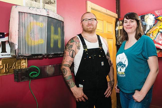Jason Sauer and Nina Sauer at Most Wanted Fine Art