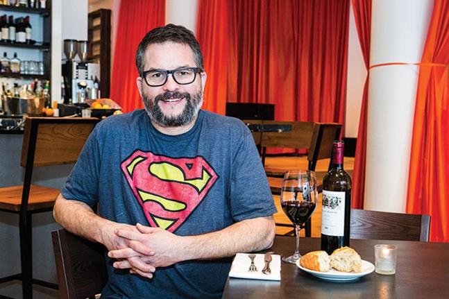 Owner Brian Keyser in Casellula's dining room