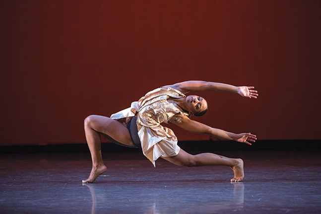 "Point Park University dancer Aysia Pollock in ""Traverse"""