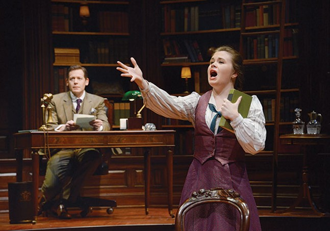 Allan Snyder and Danielle Bowen in Daddy Long Legs, at Pittsburgh Public Theater
