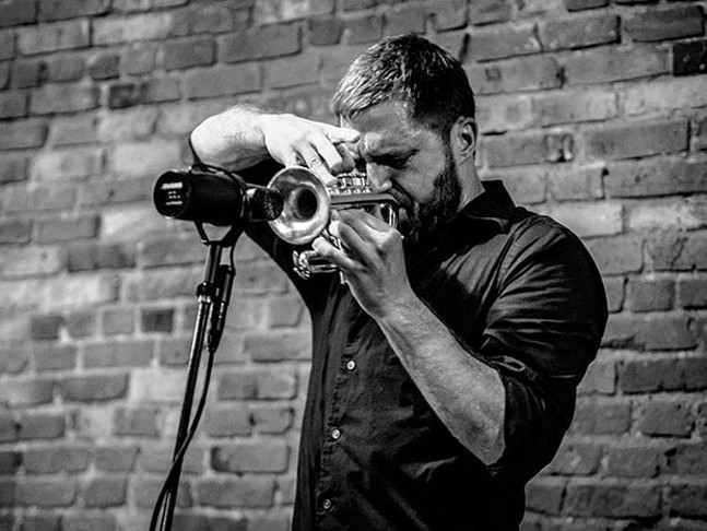 Blowing it away: Peter Evans