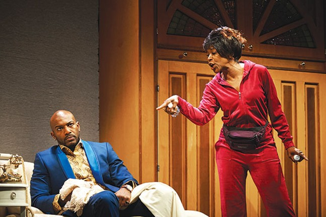 Corey Jones and C. Kelly Wright in Wild With Happy, at City Theatre