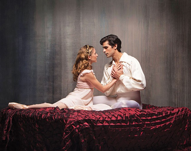 Alexandra Kochis and Alejandro Diaz in Pittsburgh Ballet Theatre's Romeo & Juliet