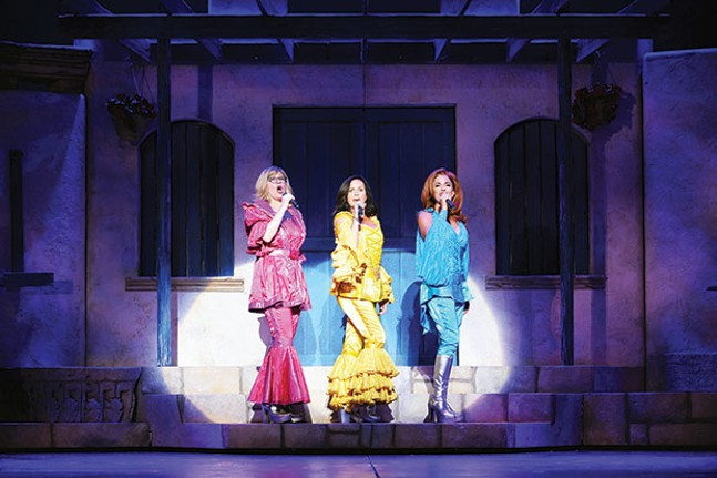 Left to right: Lori Hammel, Sally Ann Triplett and Michelle Dawson in Pittsburgh CLO's Mamma Mia!