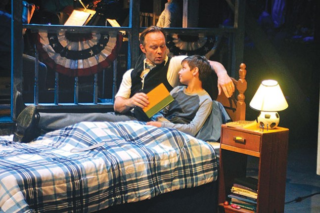 Billy Hartung (left) and Mario Williams in Big Fish, at Front Porch Theatricals