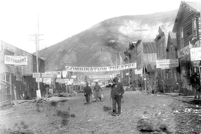 Dawson City, during the Gold Rush days