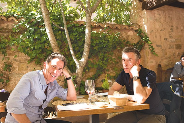 On a Spanish sojourn: Rob Brydon and Steve Coogan